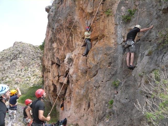 Climbing in Kato Zakros