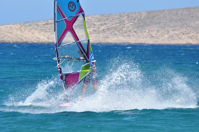 windsurfing in Kouremenos Crete